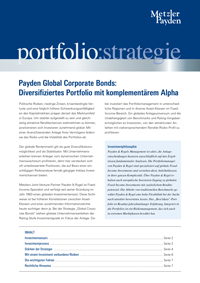 portfolio:strategie – Payden Global Corporate Bonds: Diversifiziertes Portfolio mit komplementärem Alpha