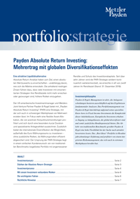 portfolio:strategie – Payden Absolute Return Investing: Mehrertrag mit globalen Diversifikationseffekten