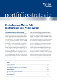 portfolio:strategie – Payden Emerging Markets Debt: Renditechancen einer Welt im Wandel