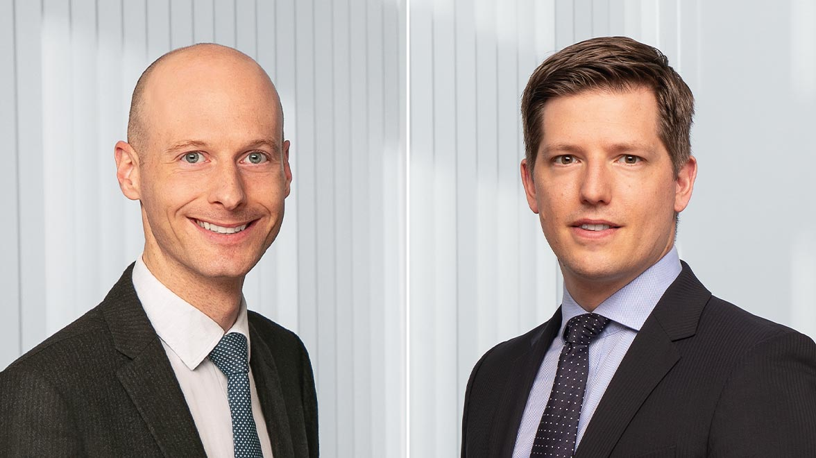 Ulf Plesmann, Portfoliomanager der Strategien Wachstum International und Globale Dividende, Jan Rabe, Co-Leitung Sustainable Investment Office