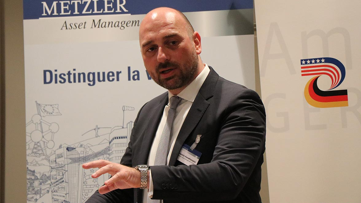 Joannis Karathanasis, Managing Director Metzler/Payden LLC beim Expert Briefing – Pension Management
