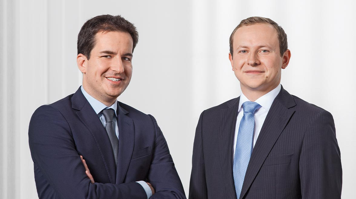 Oliver Schmidt, stellvertretender Leiter Portfoliomanagement Equities, und Boris Anbinder, Portfoliomanager Equities, Metzler Asset Management GmbH